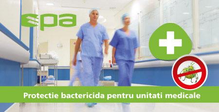 Protectie bactericida pentru spitale