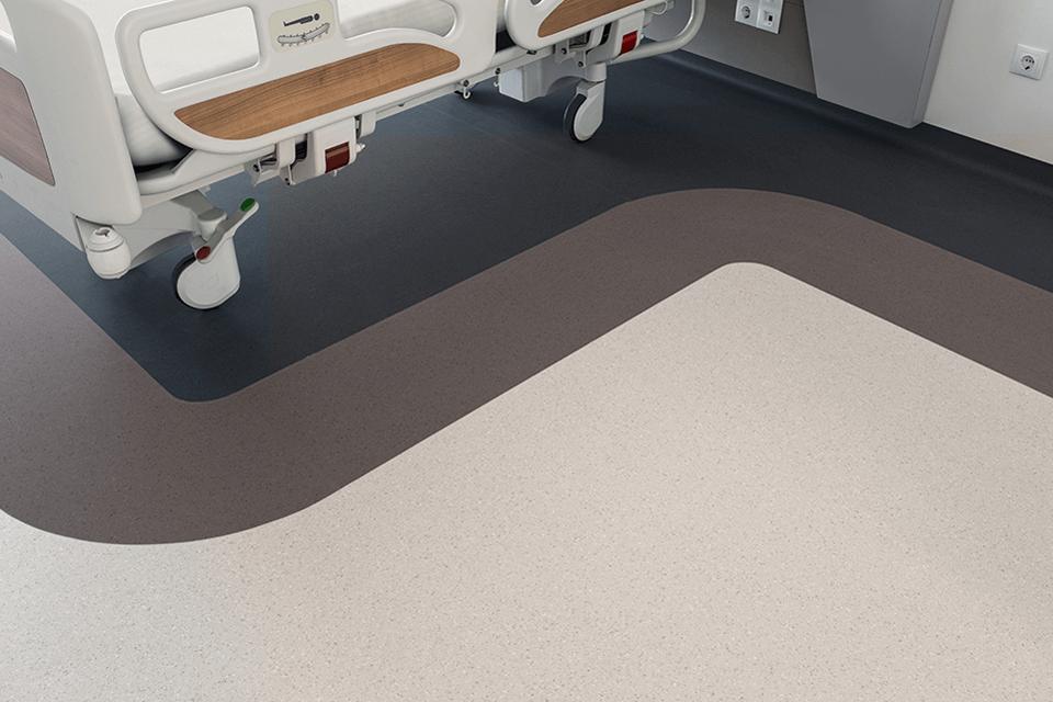 Covor PVC cu zone de accent pentru saloane pacienti