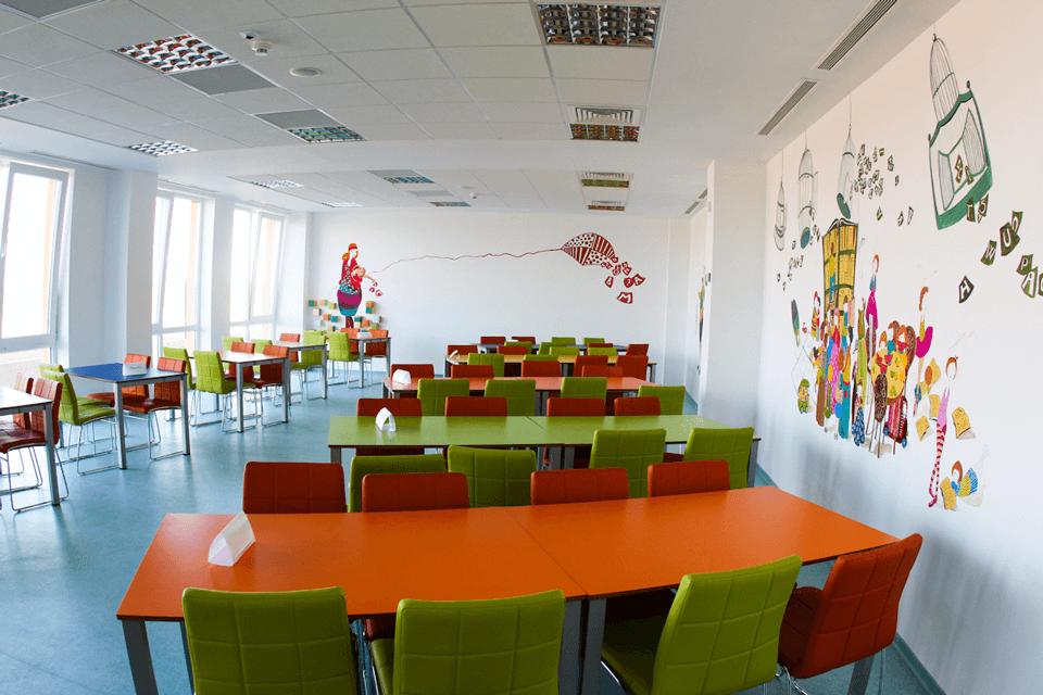 Covor PVC omogen colorat pentru sali de clase si laboratoare