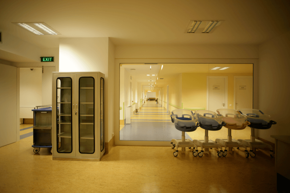 Covor PVC omogen pentru sali de nastere si incubatoare medicale pentru sectorul medical