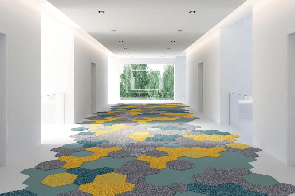 Moheta vorwerk dale cu joc de culori pentru spatii deshise birouri sau hoteluri