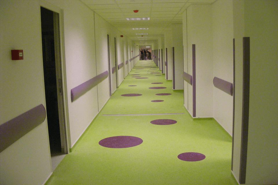 PVC pentru spital si clinica medicala cu design personalizabil