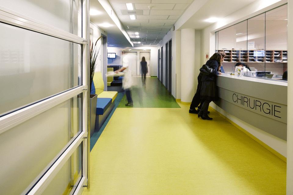 Pardoseala antistatica si antiderapanta pentru spitale medicale
