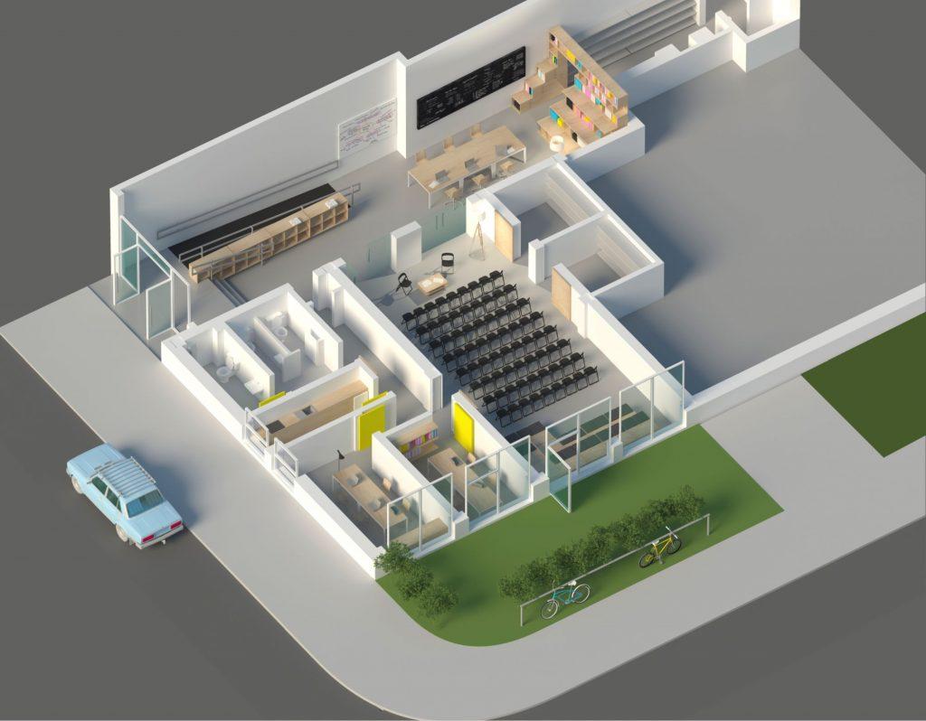 Plan centrul comunitar La Firul Ierbii Nod Makerspace